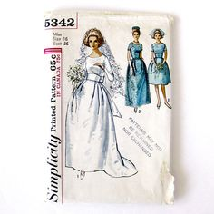 1960s WEDDING Gown Pattern / Mad Men Style Bridesmaid Dress