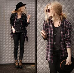 ♕ ‏ The Queen's Throne: Style Inspiration (Fall vol.2) messy hair, cowboy style