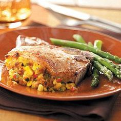 Corn-Stuffed Pork Chops