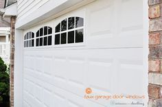 Install Faux Garage Windows - How to Install Easy DIY Faux Garage Door Windows at your home in no time at all! And adding faux wi - Garage Door Windows, Faux Window, Garage Doors, Door Makeover, Garage Windows, Garage, Garage Door Update, Garage Door Types, Doors