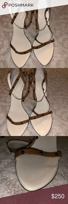 1c6d5a38c Gucci Single Strap Canvas Heels Authentic Gucci heels Worn once Canvas in  great condition No stains