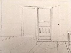 How to draw in perspective. What is linear perspective with one, two or three vanishing points and how to add figures when drawing. Atmospheric perspective and its influence on landscape painting. Pencil Drawings For Beginners, Realistic Drawings, Art Drawings, Painting Lessons, Art Lessons, Painting & Drawing, Perspective Drawing Lessons, Point Perspective, Architecture Concept Drawings