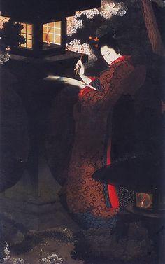 by Ohi Katushika - daughter of Katsushika Hokusai (葛飾 北斎?, October 31, 1760 – May 10, 1849) He was a Japanese artist, ukiyo-e painter and printmaker of the Edo period.