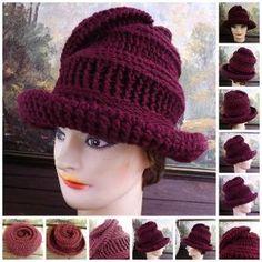 VIRGINIA Womens Crochet Hat Pattern Wide Brim by strawberrycouture by strawberrycouture