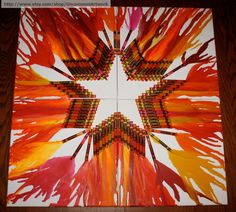 Melted+Crayon+Art++Star+Bright+by+UncommonArtwork+on+Etsy,+$65.00