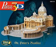 Puzz 3D St. Peters Basilica, 2015 Amazon Top Rated 3-D Puzzles #Toy