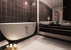 3D Bathroom Architecture Renders. Corner Bathtub, 3d, Bathroom, Architecture, Washroom, Arquitetura, Full Bath, Bath, Architecture Design