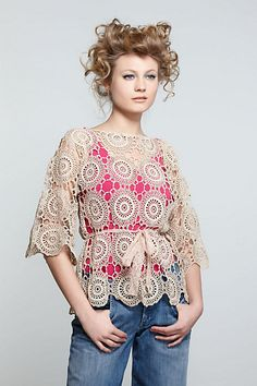 #Crochet a beautiful top to wear over a tank this summer. Just gorgeous!