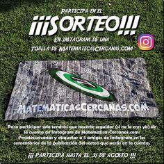 ¡¡¡Participa en el SORTEO de INSTAGRAM de una toalla de MatematicasCercanas!!!