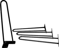 "16"" Hairpin Legs (Satin Black) ▫ Industrial Strength ▫ Mid Century Modern ▫ Set of 4 Table Legs Industrial By Design http://www.amazon.com/dp/B013VNLC4K/ref=cm_sw_r_pi_dp_aYAIwb0VN0AWA"