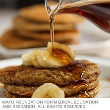 Healthy Recipes Banana oatmeal pancakes from Mayo clinic are a fantastic breakfast to fuel your day.