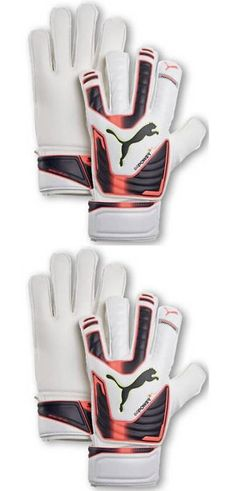 Gloves and Blockers 79763: Puma Evopower Protect 3 Fs Fingersave Soccer Football Goalkeeper Glove White/Org -> BUY IT NOW ONLY: $69.99 on eBay!