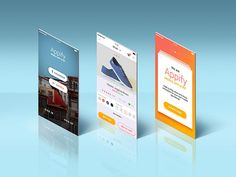 App Screens Standing Mockup by GraphicsFuel (Rafi)