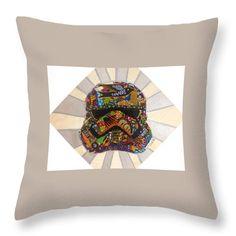 Storm Trooper Afrofuturist Decorative Pillow  Artwork by Apanaki Temitayo M  Shop at Apanaki Designs