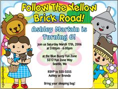 My new wizard of oz inspired invitation