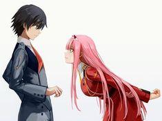 Hiro and Zero Two ❤ Manga Anime, Manga Art, Anime Art, Querida No Franxx, Anime Shop, Zero Two, Best Waifu, Darling In The Franxx, Anime Life