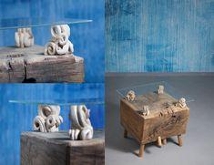 coffee table SHEEP - wooden industrial, massive oak, 55 x 55 x 50 cm, #CupakDesign, #CoffeTable, #WoodenTable, #OriginalTable, #Handmade, #Design, #Table, #ArtisticTable, #CarvedTable, #OakTable #konferenční stůl z masivu #dubový stůl #konferenční stůl #masivní dub #dubový Coffee Table Design, Coffee Tables, Decorative Boxes, Carving, The Originals, Handmade, Home Decor, Hand Made, Decoration Home