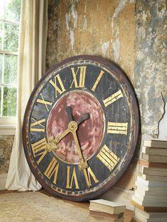 clock, walls