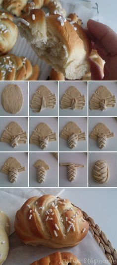 Braid the bread Cooking Chef, Cooking Recipes, Artisan Bread Recipes, Bread Shaping, Cupcakes, Pizza, Tasty Bites, Happy Foods, Biscuits