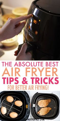 These Top Air Fryer Tips make cooking delicious dishes in your Air Fryer easier, efficient and more fun! Whether you're new to air frying or a seasoned pro, you'll want to keep these kitchen tips on… Air Fryer Recipes Snacks, Air Frier Recipes, Air Fryer Dinner Recipes, Air Fryer Cooking Times, Top Air, Air Fryer Healthy, Air Frying, Food For A Crowd, Easy Food To Make