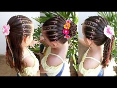 Easy hairstyle for girls with elastic bands in four use options Baby Girl Hairstyles, Braided Hairstyles, Different Hair Types, Girls Braids, Toddler Hair, Hair Dos, Hair Color, Hair Beauty, Hair Accessories