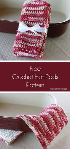 Free simple crochet hot pads pattern. Easy crochet pattern for beginners!