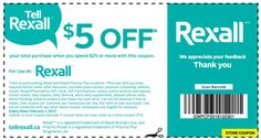 Rexall Coupon - Save $5 Off Your $25 Purchase (Ends Feb 7, 2017) -  http://www.groceryalerts.ca/rexall-coupon-save-5-off-25-purchase-ends-feb-7-2017/