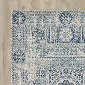 Found it at AllModern - Ferry Ivory/Blue Area Rug