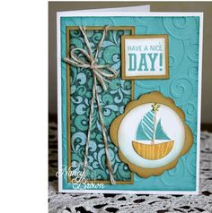 Creatively Artsy Card Gallery: Surf's Up paper