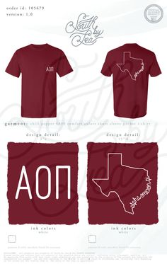 Alpha Omicron Pi | AOII | Texas Home T-Shirt Design | South by Sea | Greek Tee Shirts | Greek Tank Tops | Custom Apparel Design | Custom Greek Apparel | Sorority Tee Shirts | Sorority Tanks | Sorority Shirt Designs