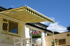 A stylish garden awning allows you to enjoy your outdoor space even in the hottest Irish Summer days (that we are having lately and the forecast is good). Garden Awning, Awning Canopy, Color Shades, Dublin, Sunny Days, Blinds, Pergola, Outdoor Structures, Patio