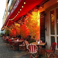Baltazár in Budapest has such a nice terrace!