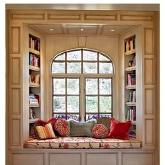 I'd love to have this window seat in a beautiful setting someday!