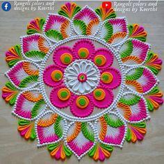 Easy Rangoli Designs Diwali, Rangoli Designs Latest, Simple Rangoli Designs Images, Rangoli Designs Flower, Rangoli Patterns, Free Hand Rangoli Design, Small Rangoli Design, Rangoli Border Designs, Rangoli Ideas