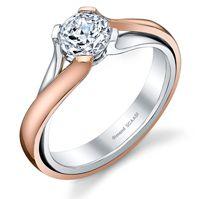 modern two tone rose white gold engagement ring so loving rose gold these - Rose Gold And White Gold Wedding Rings