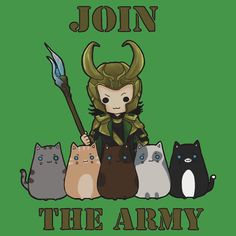 Loki's cat army: Loki Cat is possibly the best thing I've searched on Pinterest