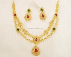 Necklaces / Harams - Gold Jewellery Necklaces / Harams (NK4542CH1179) at USD 2,896.80 And EURO 2,780.33
