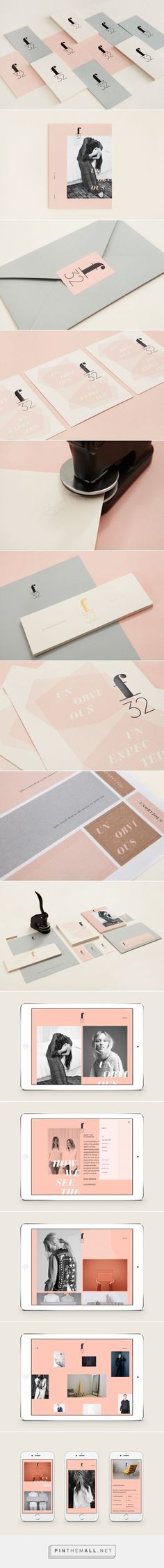 Love the blush pink in this branding. Design by Blok Design