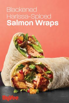 A little spicy. A little sweet. A lot delicious. Wrap up something a little different for dinner with this flavor-packed blackened salmon wrap.