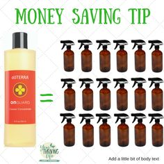 ONE bottle of On Guard Cleaner Concentrate fills 18 16-ounce bottles! That's a whole lot of clean for very little $!