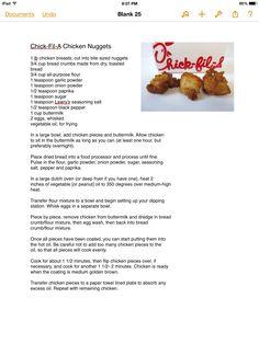 Chick-Fil-A Chicken Nuggets