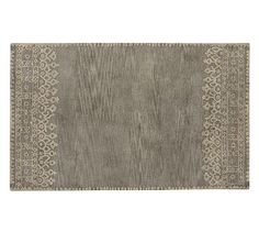 Desa Rug - Gray. Pottery Barn. Would look good under dining room table.