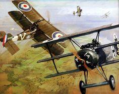 Werner Voss vs 56 Sqn., by Michael Turner (Fokker Dr.I vs SE5a)