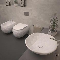 Wandcloset zonder spoelrand , ELEMENTO #badkamer, #toilet, #randloos ...
