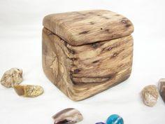 Oak Tree Branch Wood Box, wooden jewelry box, wedding ring bearer box, office desk organizer, cuff links box, eco gift box, wood art by earnestefforts on Etsy