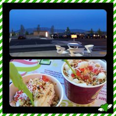 Ended our weekend with a frozen yogurt at Menchies, yum!!