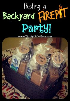 Tips and tricks for hosting thrifty backyard fire pit parties with family and friends all season long!