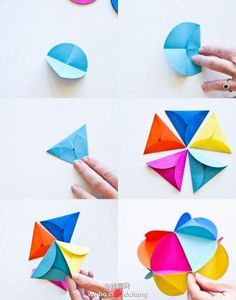 Tutorial DIY: DIY colorido Origami / DIY Origami - Cuerda de la perla y