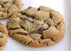 5 Ingredient Peanut Butter Chocolate Chip Cookies Recipe Desserts with creamy peanut butter, firmly packed brown sugar, large eggs, baking soda, milk chocolate chips Chewy Peanut Butter Cookies, Chocolate Peanut Butter, Chocolate Chip Cookies, Flourless Chocolate, Homemade Chocolate, Tea Cakes, Shortbread, Biscotti, Macarons