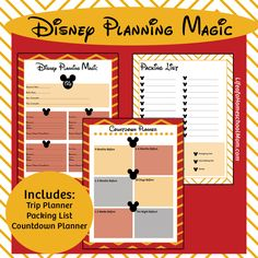 Planning a trip to Disney in 2016 - or even 2017? Keep your planning organized with these planning sheets - that are sure to keep you thinking of Disney Magic while you plan!